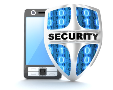 PDA security  done in 3d Stock Photo - 14662317