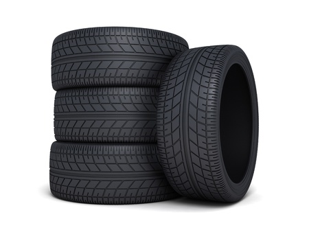 car tire: Tire car on white background  done 3d   Stock Photo