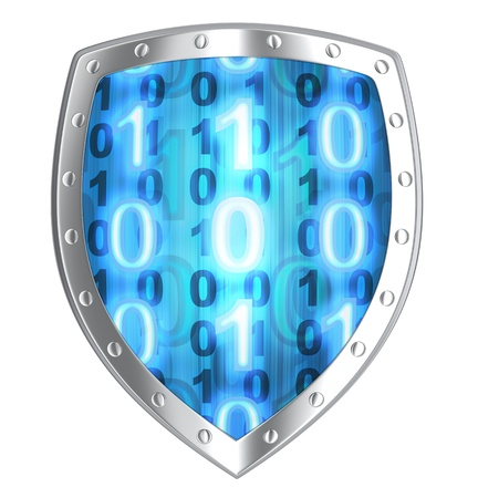 Shield security  done in 3d, isolated    photo