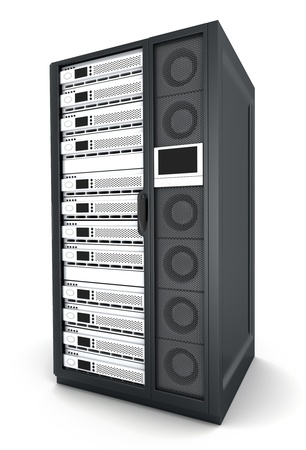 computer case: server high-end only Stock Photo