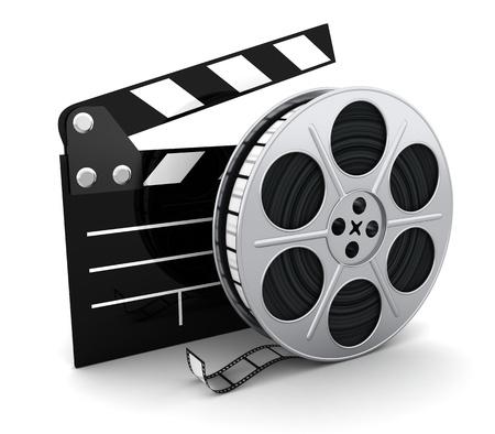 aplaudiendo: Cine y portapapeles s�mbolo Foto de archivo