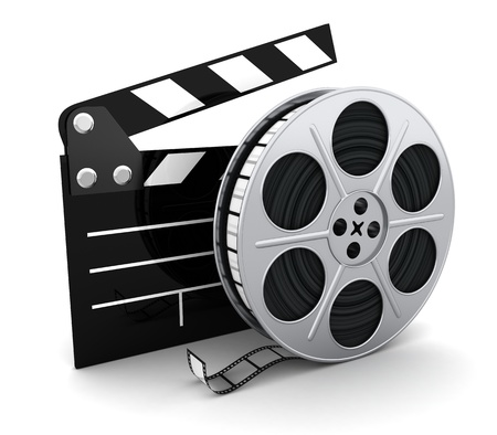 clap: Film and clipboard symbol