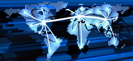 Global telecommunication  done in 3d Stock Photo - 15939544
