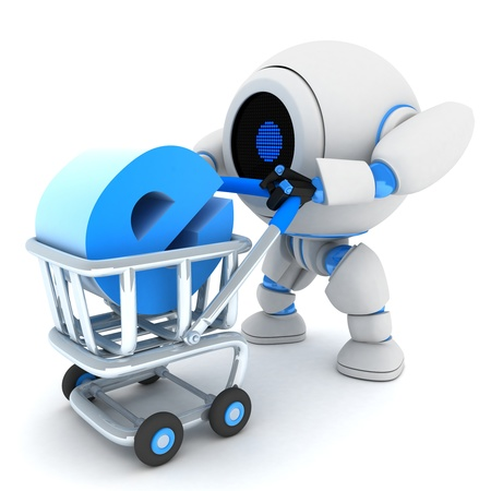 done: Robot and cart e-shop  done in 3d