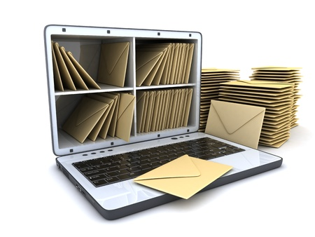 consignor: Laptop and many mail  done in 3d