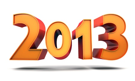 Abstract new year  done in 3d, white background Stock Photo - 16060184