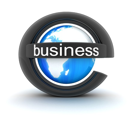 Symbol e-business  done in 3d  Stock Photo
