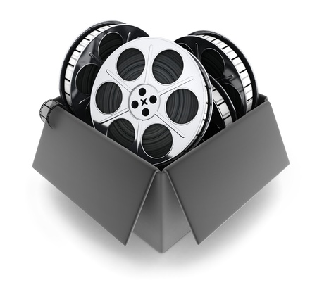 Black box and films (done in 3d)