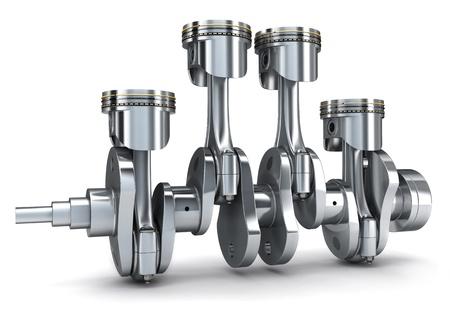 pistones: Cig�e�al y pistones (hecho en 3d) Foto de archivo
