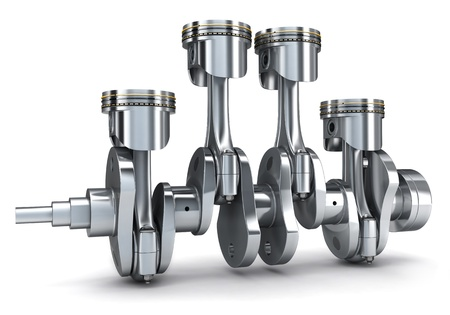 Crankshaft and pistons (done in 3d) photo