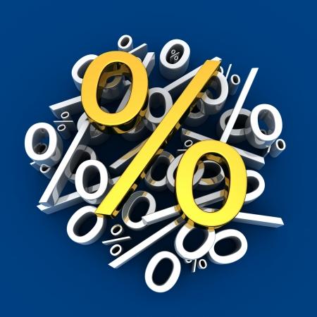 selloff: Percent sign (done in 3d)