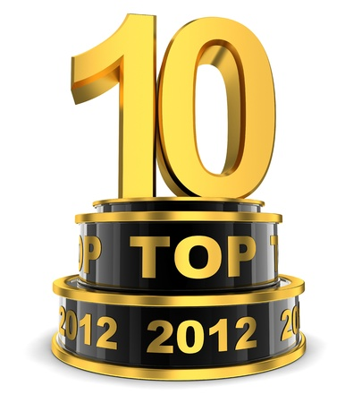 Top 10 of the year  done in 3d  Stock Photo - 16815792