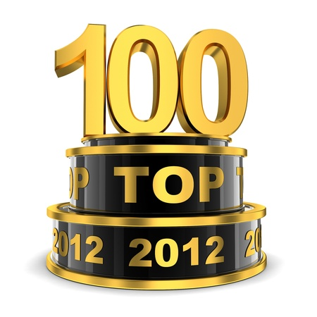 Top 100 of the year  done in 3d  Stock Photo - 16815782