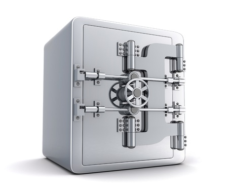 Large safe, closed  done in 3d  photo