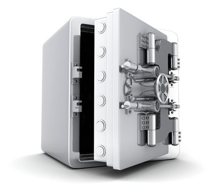 bank vault: Large safe, open  done in 3d