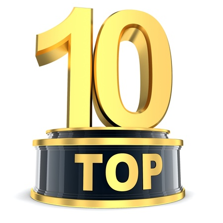 Top 10 of the year  done in 3d  Stock Photo