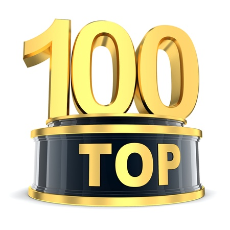 top of the year: Top 100 of the year  done in 3d  Stock Photo
