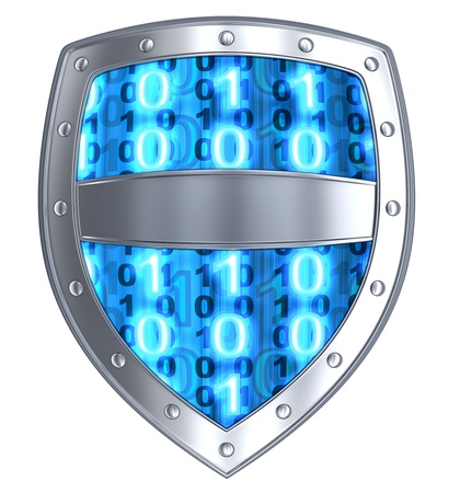 3d shield: Electronic security, abstract (done in 3d, isolated)
