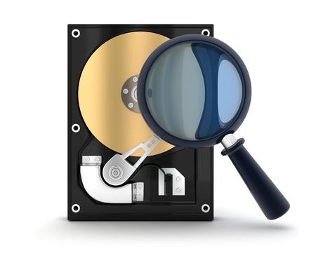 harddisc: HardDisk and lens (done in 3d)