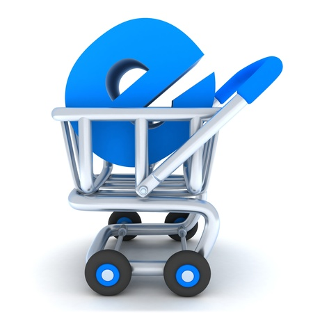 ebusiness: Robot and cart e-shop (done in 3d)