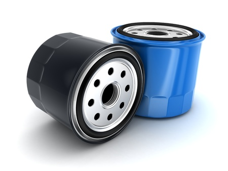 auto parts: Oil filter car (done in 3d)    Stock Photo