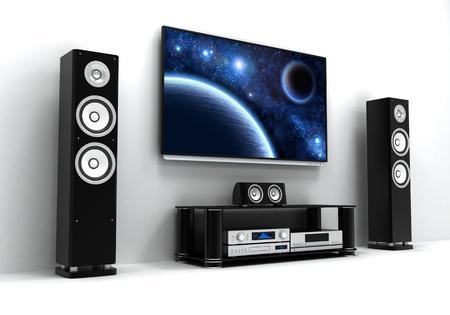 flatscreen: Home-cinema modern  done in 3d