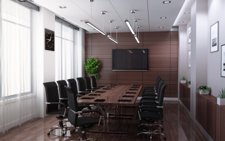 summation: Modern conference room  done in 3d  Stock Photo