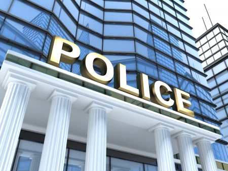 Police Building  done in 3d   Stock Photo