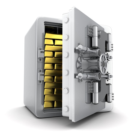 Safe and gold  done in 3d  photo