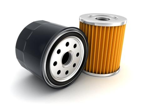 Ölfilter Auto getan in 3d Standard-Bild