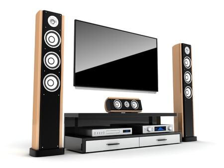 Home-Cinema-moderne (in 3d getan)  Standard-Bild - 20632826