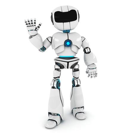les salutations de l'AI (fait en 3d) Banque d'images
