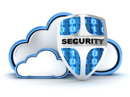 Blue Cloud-Sicherheit (in 3d) Standard-Bild