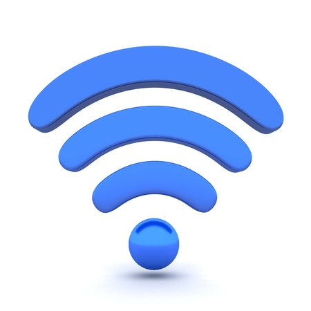 3g: Abstract Wi-fi on white background (done in 3d)