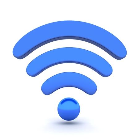 R?sum? Wi-Fi sur fond blanc (fait en 3d) Banque d'images
