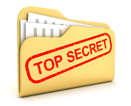 File and stamp top secret (done in 3d)