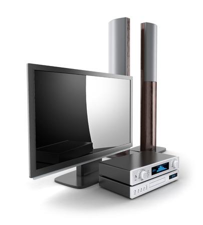 TV-en audio-systeem (gedaan in 3d)