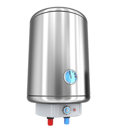 tanks: Water heater on white background (done in 3d) Stock Photo