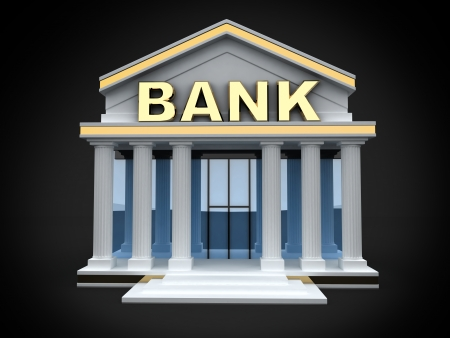 bank building: Building and sign bank (done in 3d)  Stock Photo