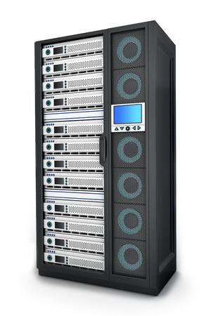 highend: server di fascia alta solo (fatto in 3d, isolato)  Archivio Fotografico