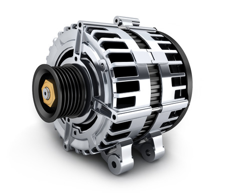 Auto-Generator auf weiß (in 3d) Standard-Bild