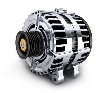 Auto generator op wit (gedaan in 3d)