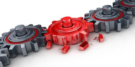 broken link: Bad red gear (done in 3d)
