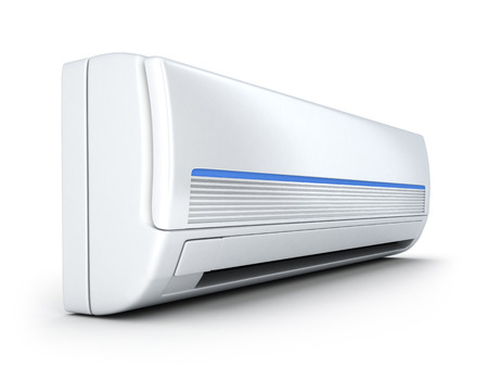 air-conditioner on white (done in 3d)