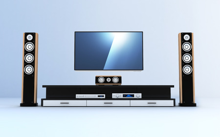 Home-cinema modern (done in 3d)    photo