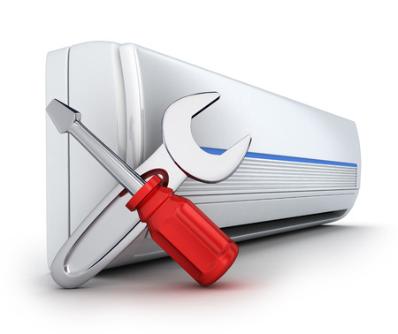 air-conditioner on white background