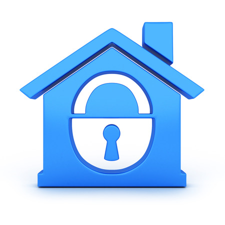 safe house: Abstract home and lock