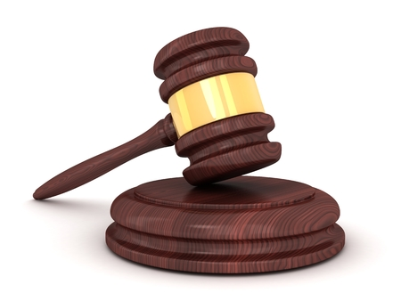 impartial: Only gavel on a white background (done in 3d)