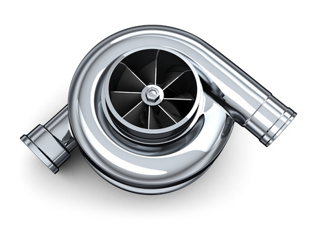 Turbine car on white background (done in 3d) photo