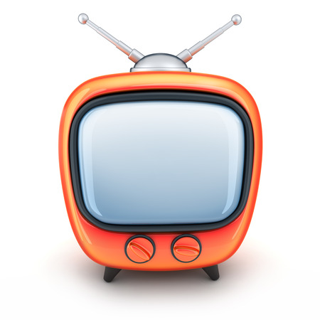 telly: Symbol TV on a white background (done in 3d) Stock Photo
